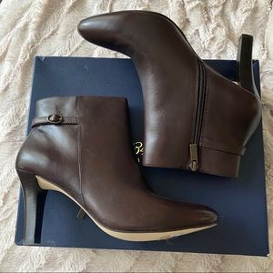 Brooks Brothers Brown Leather Heeled Bootie